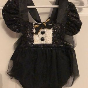 Sparkle Tuxedo Tutu Sparkle Romper Belle Threads